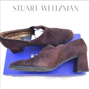 Stuart weitzman cola suede slip on low booties 8B
